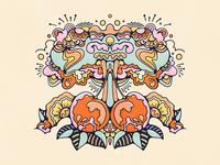 Cherry Bomb explosion cherrybomb cherry livelyscout peter max john alcorn pattern retro graphic design colorful 70s vintage illustration procreate