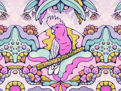 Good Galah Bird Illustration eucalyptus bush livelyscout texture halftone retro bird illustration aussie australian galah 70s graphic design bold colors illustration vintage illustration