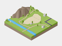 Spadcamp Isometric view