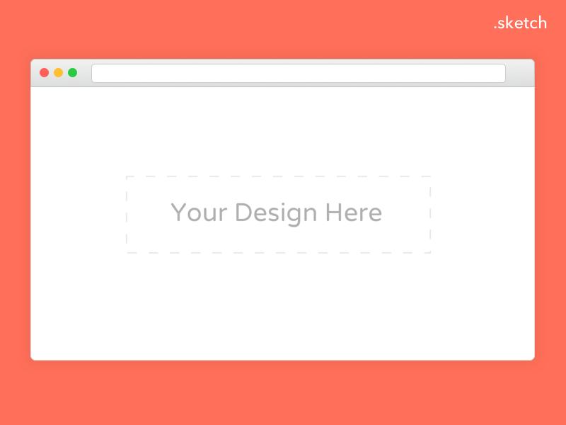 Browser Mockup mockup window panel template portfolio sketch mock browser ui ux design