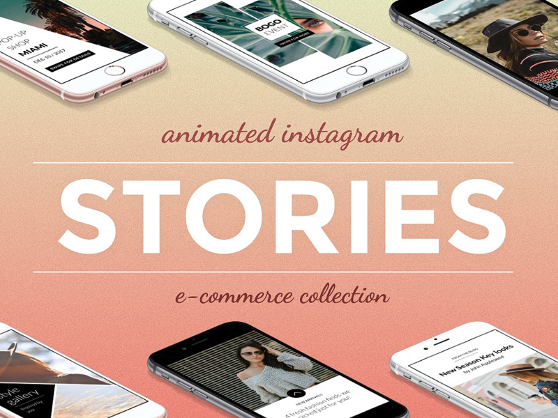Freebie! Animated Instagram Story Templates download animate instagram psd interaction social design freebie free template photoshop animated