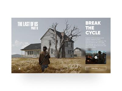 The Last of Us Part II ui ui design concept art minimalism games web design the last of us part ii the last of us part 2 the last of us 2 the last of us