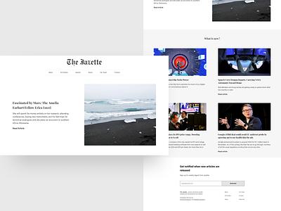 The Jazette - Newspaper newspaper news clean typography ui design ui design minimalism