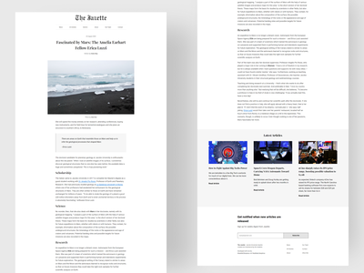 The Jazette - Article View articles ux newsletter newspaper news article clean ui typography design ui design minimalism