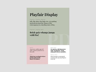 Playfair Display template playfair display typogaphy font