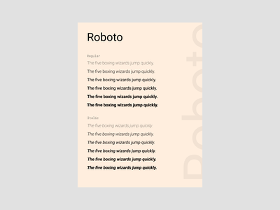 Roboto roboto clean typography minimalism template present fonts font