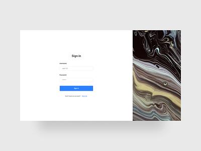 Sign In Page button input form login form log in login signup registration sign in clean ui design ui design minimalism