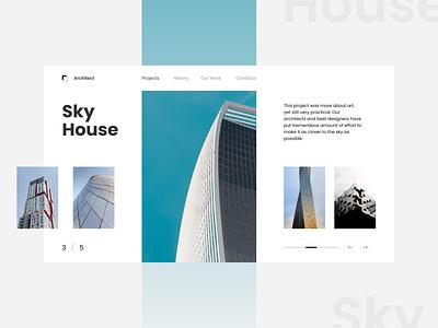 Architect architecture architect clean ui design ui design minimalism