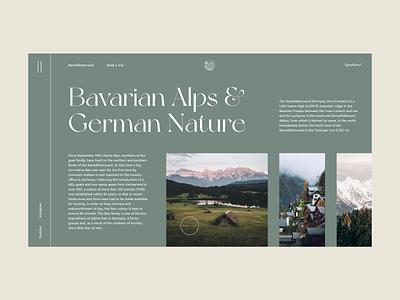 Bavarian Alps clean typography minimalism ui design ui germany alps nature mountains