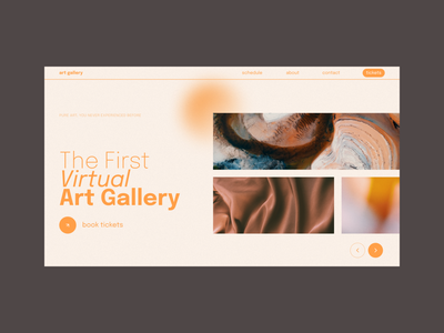 The First Virtual Art Gallery abstract ui design ui minimalism