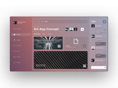 Art App ui design coworking branding