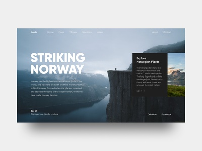 Striking Norway Concept nature fjords norway