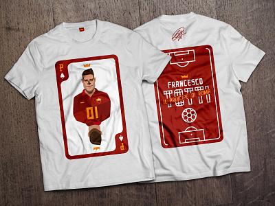 Francesco Totti roma crown illustration football totti tshirt playing card principe prince eternal eterno