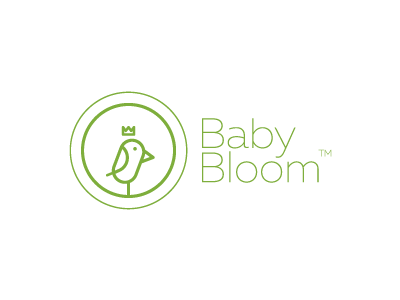Baby Bloom lines simple sale trademark prince bird kids logo brand apparel baby day