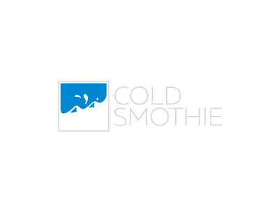 Cold Smothie gentle fine calm blue mountain square simple cold logo smothie day