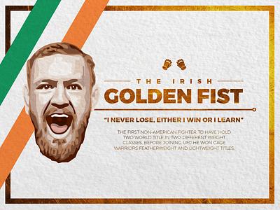Conor McGreggor - The Irish Golden Fist mro2 fight golden irish glove fist boxing mma ufc mcgregor conor