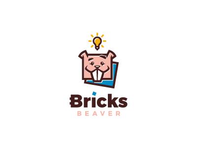 Bricks Beaver color brick light happy beaver school child playing play game kids bricks