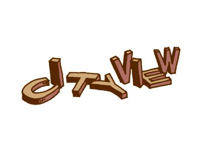 Cityview Logo logo logo design band rock band music poster cityview custom type typography sketch