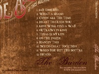 Joe Allison CD back Detail