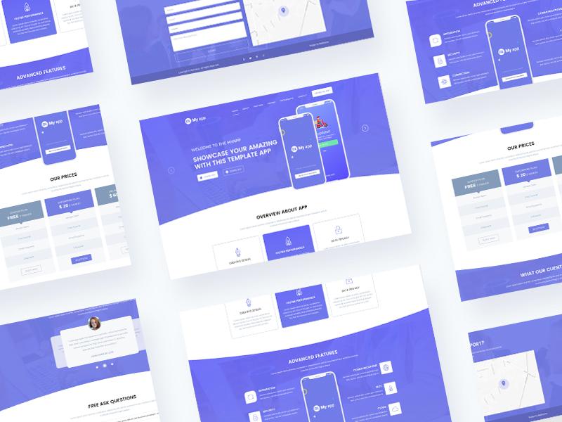 App Landing Page animation ui  ux web design
