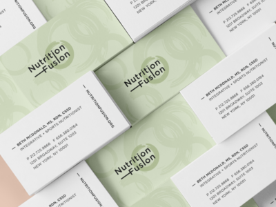 Business Card Design for Nutrition Fusion