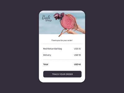 Daily UI #17 - Receipt shop purple dashboad web ux ui responsive layout mobile interface design dailyui app