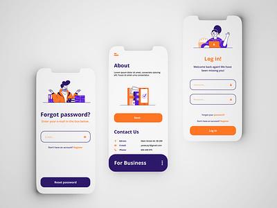 Simple-UI #1 illustration minimal ui mobile concept design app