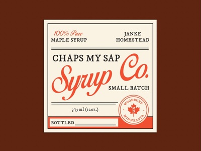 Maple Syrup Label typography maple leaf bottle label vintage font vintage maple syrup