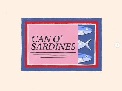 Sardines Can drawing california illustration tin can fish sardines can sardines sardine