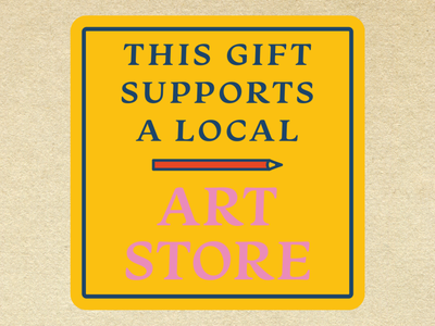 Art Store Gift Tag small business support art store art shop local holiday gifts holiday present gift