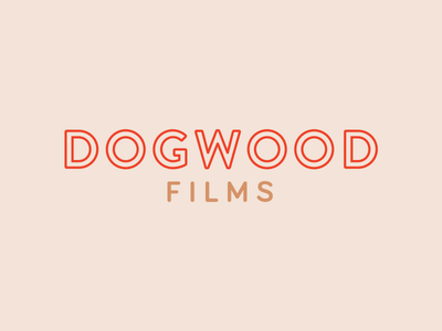 Dogwood Films Logo Comp outline flower dogwood nashville red logo videographer photography logo film camera logo film logo