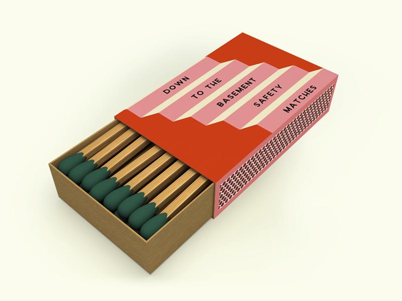 Safety Matches orange pink orange and pink safety illustration steps nashville matchbox matchbook matches safety matches