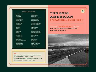 American Operational Guide Book pink print info map american notebook guide book guidebook america