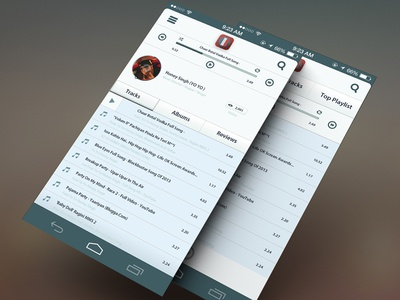 Android Music App With Profile View - WIP android music app play music music play list profile view next pre start play