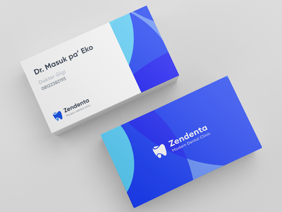Zendenta - ID Card graphic design branding identity brand health doctor appoinment system management dental dentist name card id card medical