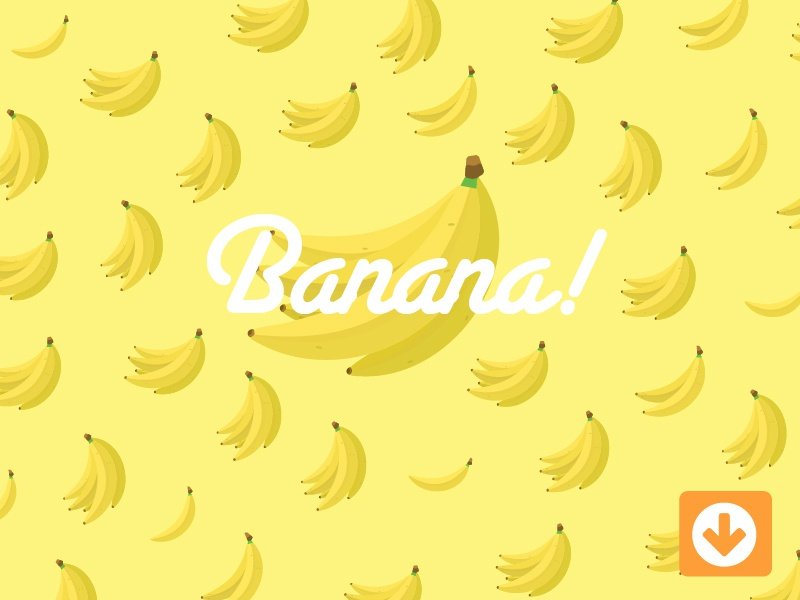 Banana! yellow free pattern bunch download freebie illustration vector food fruit banana