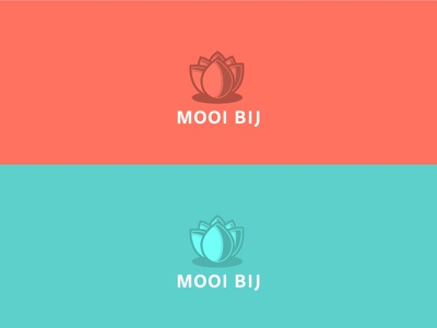 Mooibij Logo mark lotus lotus flower ident logo illustrator