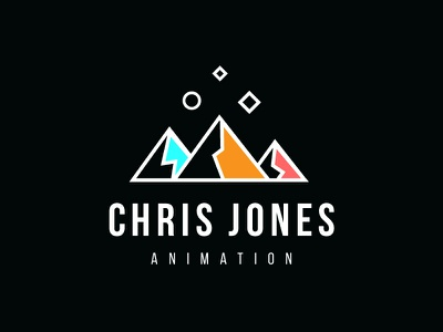 Logo update strokes mountain keyframes stars mountains ident logo
