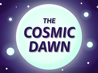 The Cosmic Dawn yt youtube glow planet illustrator vecotr dawn cosmic star science space