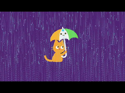 Don#t forget your brolly subscribe wet weather science channel youtube yt after effects ginger india particular illusatrator rain cat animation