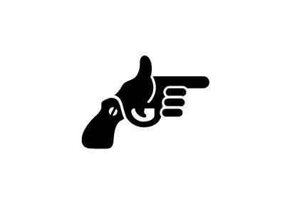 Hip Shot gun hand shoot revolver logos logo logo design