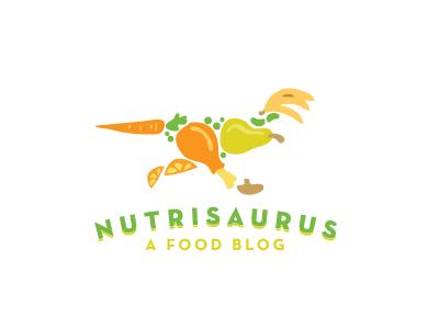 Nutrisaurus.com Logo logo logos animal animals logo design fruit food vegetables diet healthy eating restaurant