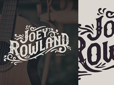 Joey Rowland Custom Type branding logo design custom font floral flourish flourishes western country typedesign logotype logos logo