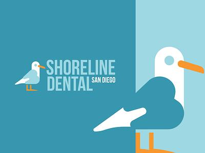 Shoreline Dental Logo Design logodesign birds sea gull seagull illustration brandmark branding identity logo logos icon design bird bird icon bird logo