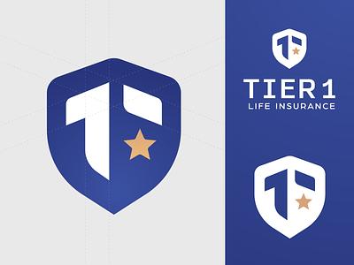 Tier 1 Logo Design rise star logotype identity design brandmark logo design logodesign identity branding badge badge design patch military logos logo tier one number 1 arrow shield