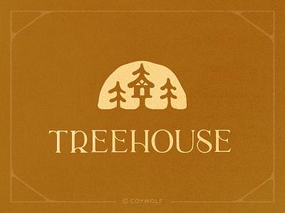 Treehouse Brandmark serif lettering branding maple syrup brandmark organic house builder nature outdoors forest sunrise tree trees logos logo tree house treehouse