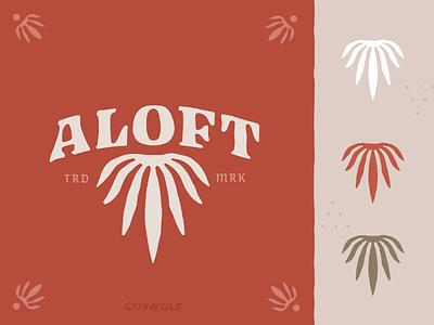 ALOFT identity design wordmark typography logo design logodesign rustic handmade retro vintage logotype brandmark branding identity wellness logos logo hemp marijuana cbd cannabis leaf