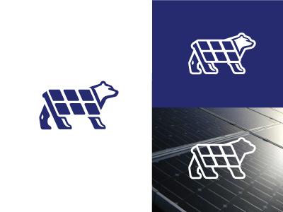 Solar Bear icon logo design logos logo solar panels solar energy polar bear