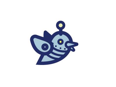 Tweet the Automater logo illustration icon bird robot twitter