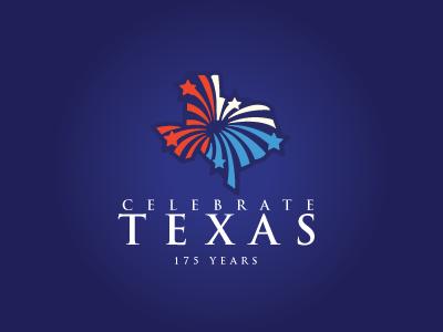 Celebrate Texas Logo Design texan explosions fireworks logo design logos logo texas
